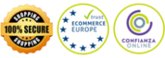 Garantia 100%. SSL encryption. Ecommerce Europe. Confianza Online. Trusted Shops.